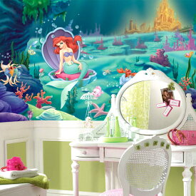 ウォールシール RoomMates ディズニー アリエル XL ウォールペーパー 壁紙・壁画 子供部屋 パーティー 壁紙