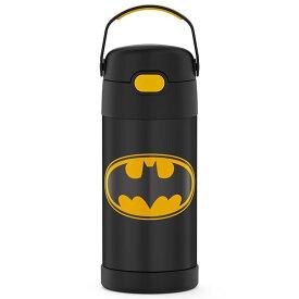 サーモス ステンレス ストロー 水筒 サーモス ステンレス水筒 バットマン イエロー ストロー 350ml THERMOS 子供 キャラクター水筒