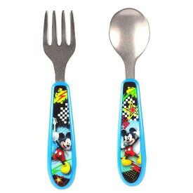 【大決算SALE】ディズニー ミッキーマウス 食器 カトラリー 出産祝い スプーン&フォーク セット