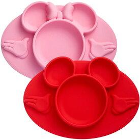 【P2倍・8月8日26時〜+クーポン有】ひっくり返さない! テーブルに吸着するシリコン製 吸盤付きベビー用食器 ディズニー ミッキーマウス ミニーマウス