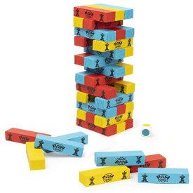 【P5倍・10/01限定+クーポン有】ジェンガ パウ・パトロール 積み木 木製 ジェンガゲーム バランスゲーム 立体パズル 積み木 ブロック ドミノブロック テーブルゲーム おもちゃ 48PCS サイコロ付き