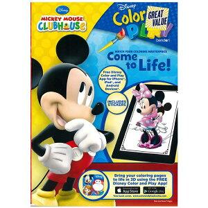 DM便送料無料/ ディズニー ミッキーマウス ミニーマウス 塗り絵 144P ぬりえ 英語 アクティビティブック 迷路 絵合わせ キャラクター