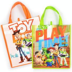 DM便対応/ 不織布バッグ ハンドバッグ L トイストーリー ディズニー キャラクター 手提げ袋 作品収納バッグ マチ付き エコバッグ トートバッグ