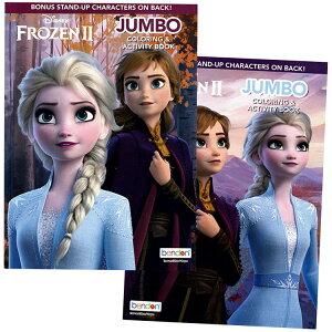 DM便送料無料/ ディズニー アナと雪の女王2 塗り絵 ぬりえ 英語 アクティビティブック ワードサーチ 迷路 絵合わせ キャラクター