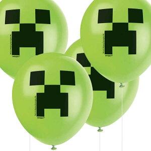 【P2倍・〜7月25日26時+クーポン有】送料無料/ 風船 8個セット マインクラフト パーティグッズ 誕生日 室内装飾 キャラクター風船
