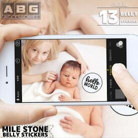 【4月7日-9日限定クーポン利用で300円OFF】ABG マイルストーン ベリー ステッカー ブラック/ホワイト 12ヶ月