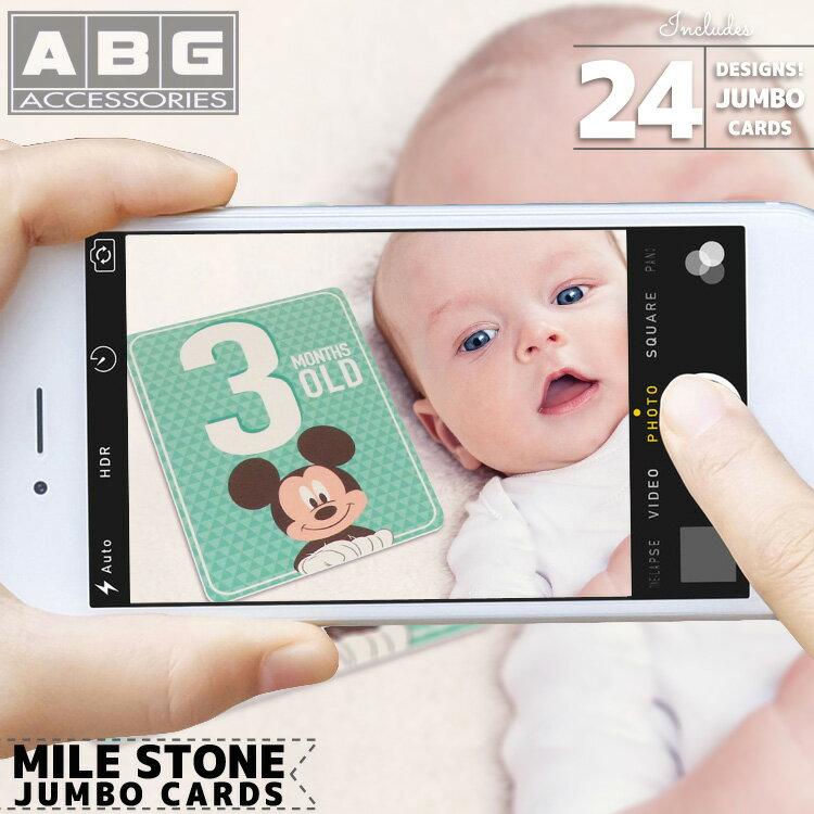 ABG マイルストーン フォトカード ディズニー ミッキーマウス 数字 12枚入り