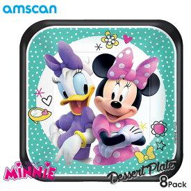 ディズニー ミニーマウス 18cm デザート プレート 8枚セット アムスキャン