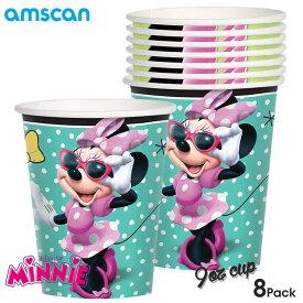 ディズニー ミニーマウス ペーパーカップ 8個セット コップ アムスキャン