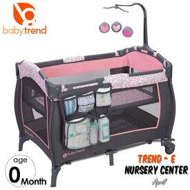 【P2倍・8月8日26時〜+クーポン有】ベビートレンド ベビーベッド 折りたたみ プレイヤード ナーサリーセンター ハート TREND Baby Trend