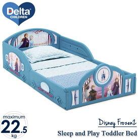 【P2倍・06/01限定+クーポン有】6月下旬入荷予約販売/ デルタ 子供用ベッド プレイスペース ディズニー アナと雪の女王 2 子ども用 トドラーベッド キッズ 幼児 子供部屋 DELTA