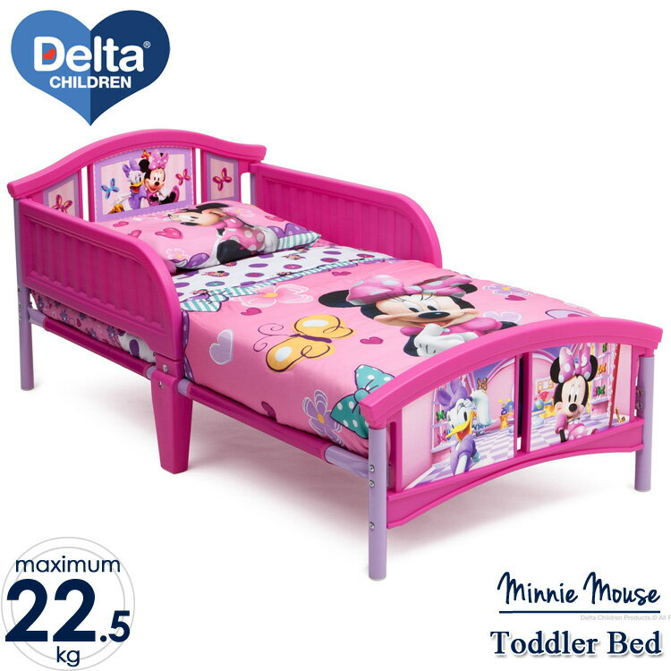 Online ONLY(海外取寄)/ デルタ ディズニー ミニーマウス トドラーベッド 子供 女の子 3-6歳
