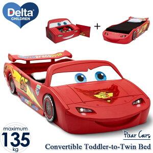 ディズニー カーズ ベッド 子供 男の子 コンバーチブル トドラー ツイン ベッド おもちゃ箱付 デルタ /配送区分C