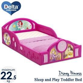 11月下旬入荷予約販売/ デルタ 子供用ベッド プレイスペース ディズニー プリンセス 子ども用 トドラーベッド キッズ 幼児 子供部屋 DELTA