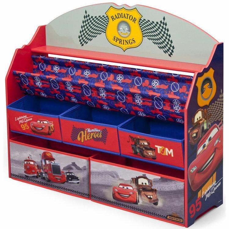 【ママ割エントリーでP5倍 6/8 10:00-6/22 9:59】 デルタ ディズニー ピクサー カーズ デラックス 本棚 おもちゃ箱