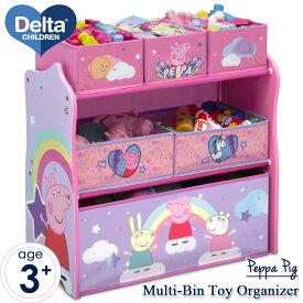 デルタ ディズニージュニア ペッパピッグ マルチ おもちゃ箱 ピンク 子供 収納ボックス オーガナイザー 子供部屋収納 Delta
