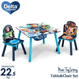 Online ONLY(海外取寄)/ デルタ ディズニー トイストーリー 4 テーブル&チェア 収納付き 子供家具 学習机 椅子セット Delta