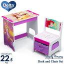 【割引クーポン有】デルタ ディズニー プリンセス デスクセット 子供家具 学習机 椅子セット Delta