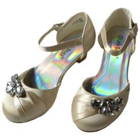 【スーパーセール半額商品】フォーマル 靴 女の子 18-23cm シャンパン シューズ