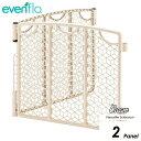 evenflo ベビーゲート プレイスペース ゲート拡張 2パネル バーサタイル イーブンフロー クリーム