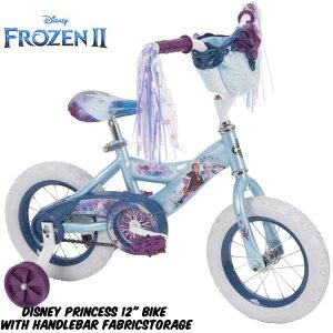 ディズニーアナと雪の女王12インチ子供用自転車エルサアナ駒付き補助付き補助輪