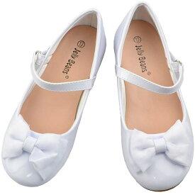 【P2倍・4月9日20時〜+クーポン有】フォーマル 靴 女の子 18-23.5cm ホワイト キッズ シューズ