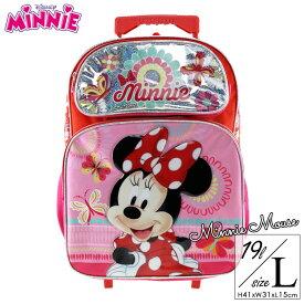 キャリーバッグ ディズニー ミニーマウス L キッズ 子供 コロコロ 女の子 旅行 遠足 帰省 子供用 かばん バッグ キャラクター