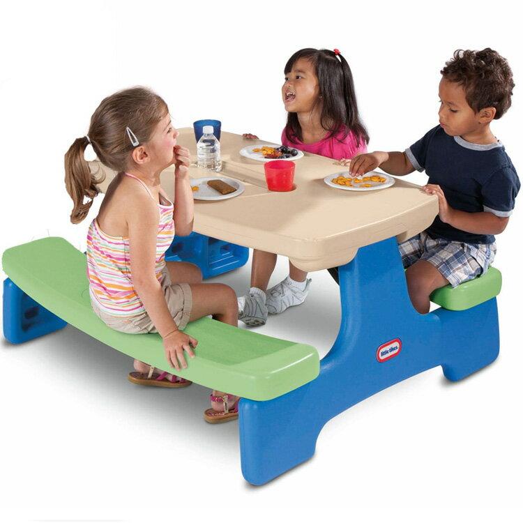 アウトドア 折りたたみテーブル リトルタイクス イージーストア ピクニックテーブル ブルーグリーン /配送区分:超大型