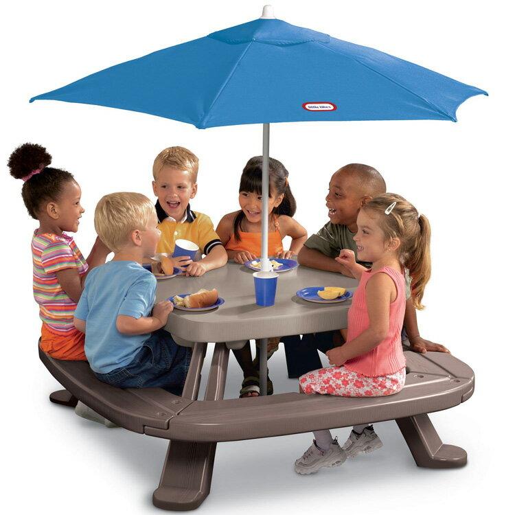 アウトドア テーブル リトルタイクス フォールドストア ピクニックテーブル アンブレラ付き /配送区分:大型