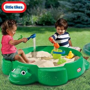 Littletikesカメ砂場サンドボックス砂遊びフタ付き