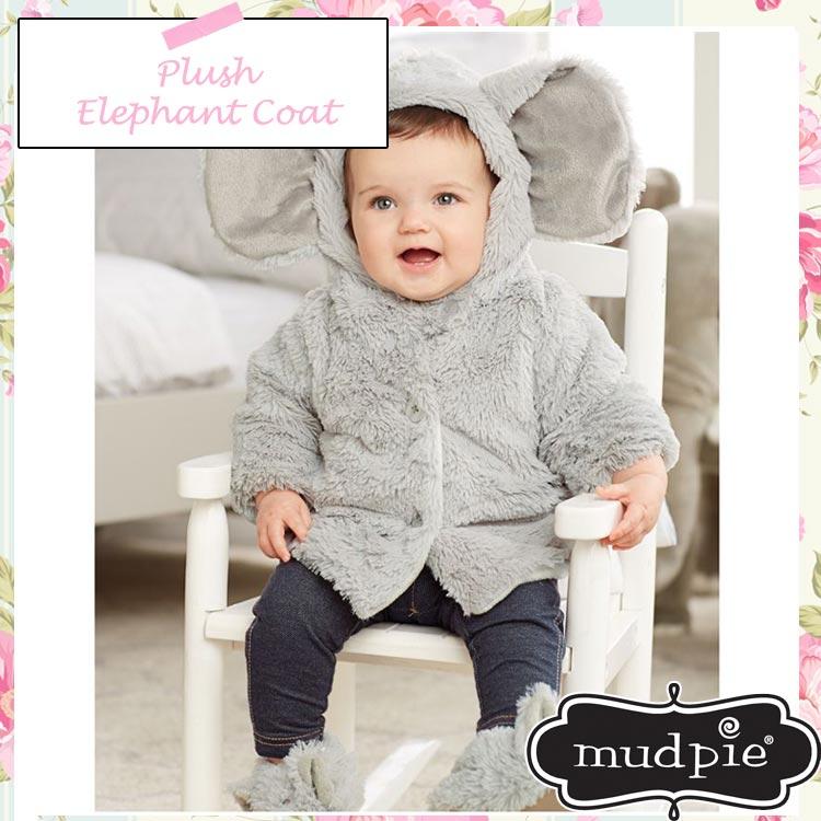 クリアランスSALE/ マッドパイ ゾウ もこもこコート 0-6ヶ月 (1052141) エレファント 男の子 子供 赤ちゃん