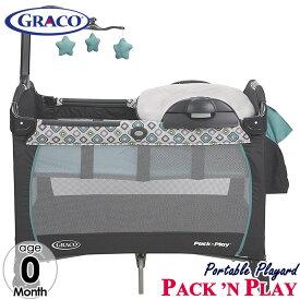 8月下旬入荷予約販売/ グレコ ベビーベッド 新生児OK プレイヤード パック N プレイ プレイヤード ポータブル ナッパ—&チェンジャー アフィニア Graco