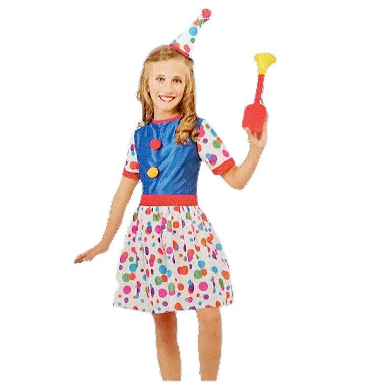 ハロウィン 衣装 子供 ルービーズ ピエロ パーティー クラウン コスチューム 女の子 105-150cm 610682
