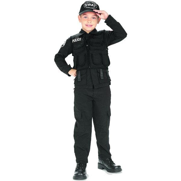 ハロウィン 衣装 子供 ルービーズ スワット ポリス コスチューム 男の子 90-150cm 882813