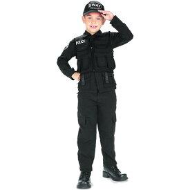 【訳あり】ルービーズ スワット ポリス ハロウィン コスチューム 男の子 105-120cm Sサイズ 3歳 衣装 子供 Rubies 882813