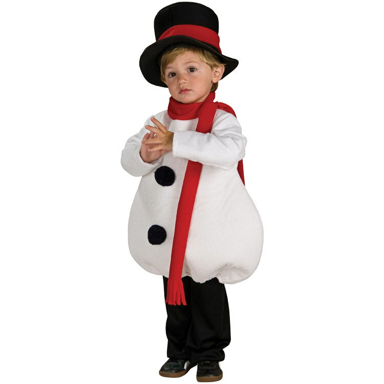 コスチューム ハロウィン 子供 ルービーズ クリスマス スノーマン 90-120cm