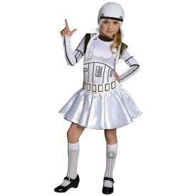 【25日限定クーポン有り】ハロウィン 衣装 子供 ルービーズ スターウォーズ ストームトルーパー コスチューム 女の子 120-150cm Rubie's 886844