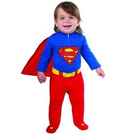 【P3倍・スーパーセール】ルービーズ スーパーマン ロンパース ハロウィン コスチューム 男の子 女の子 60-80cm 衣装 子供 Rubies 887601