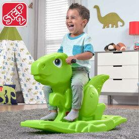11月上旬入荷予約販売/ ステップ2 ディノ ロッカー 乗物 乗用玩具 恐竜 キッズ おもちゃ 室内 1歳半 ロッキング STEP2 497100