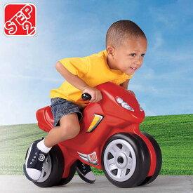【P2倍・11月25日10時〜+クーポン有】12月中旬入荷予約販売/ ステップ2 モーターサイクル レッド 3歳から 乗用玩具 バイク STEP2 736200