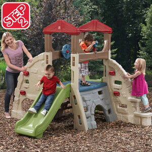 Online ONLY(海外取寄)/ ステップ2 アルパインリッジ クライマー&スライド すべり台 プレイランド 大型遊具 屋外遊具 STEP2 841000 /配送区分C