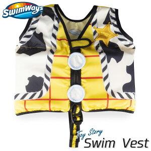 子供用 スイムベスト トイストーリー ウッディ 2歳から フローティングベスト 浮き具 幼児 ライフジャケット SwimWays