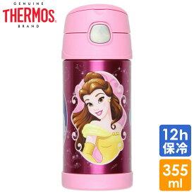 サーモス ステンレス ストロー 水筒 サーモス ステンレス水筒 ディズニー プリンセス ピンク ストロー 350ml 子供 キャラクター水筒