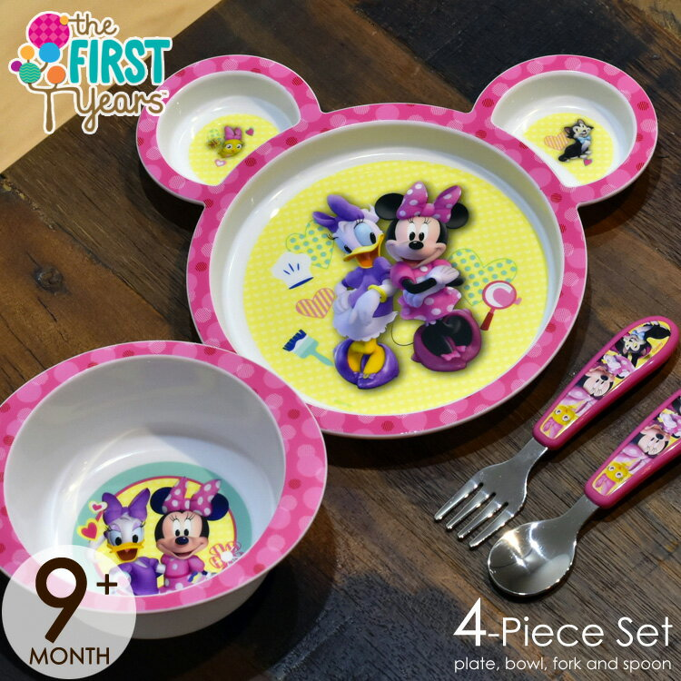 TheFirstYears ディズニー ミニーマウス 食器4点セット Y9069A5