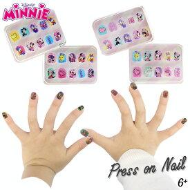 DM便対応/ ディズニー ミニーマウス 子供用 ネイルチップ 40枚セット オシャレ雑貨 ネイルセット キッズコスメ 子供 女の子 かわいい