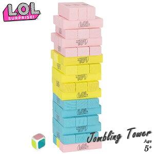ジェンガ L.O.L. サプライズ! 積み木 木製 ジェンガゲーム バランスゲーム 立体パズル 積み木 ブロック ドミノブロック テーブルゲーム おもちゃ 48PCS サイコロ付き