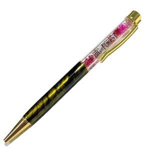 お名前入り オーダーメイド ハーバリウムボールペン 大理石柄 color77 完成品 花 手作り ハンドメイド ギフト 名前入れ プレゼント
