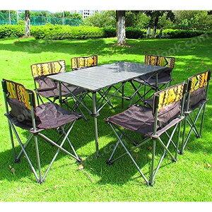 ◇ レジャーテーブル ベンチ7点セット ◇ ピクニック椅子テーブルセット バーベキュー 折りたたみ 携帯イス アウトドア コンパクト