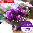 【母の日 花 ギフト】カーネーション ムーンダストの花束(S 12本)母の日ギフト専用【花瓶が要らない花束 母の日ギフ…