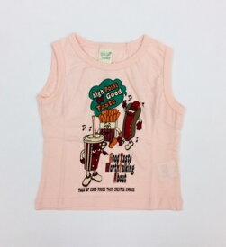 キッズジャンクフードタンクトップ ピンク 80cm トップス 女の子 アウトレット